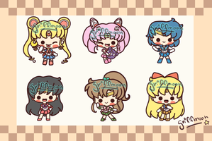 Sailor Scouts by griff-chii