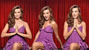 Cote De Pablo Red Curtain Ziva by Dave-Daring