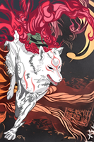 Amaterasu Running Vector by RadillacVIII