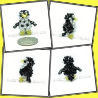 Penguin Swarovski Crystal Beadwoven Figurine by PassionForBeads