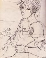 topless cloud strife-sketch by moyan