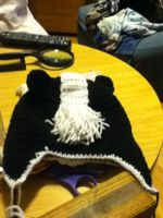 Skunk Hat wip by giraffesonparades
