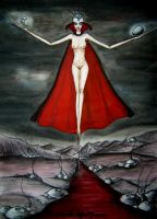 Goddess of the bloody river by Phersephone