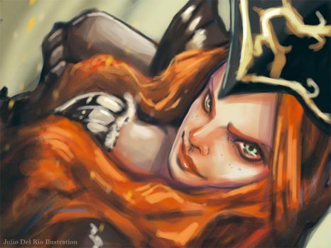 Miss Fortune LOL by juliodelrio