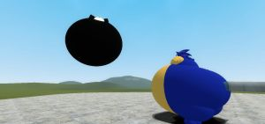 Sonic and Shadow inflates by rabbidsfan