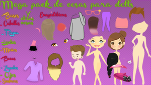 Mega pack de cosas para Dolls by emyeditions2