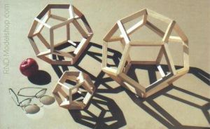 Wood Dodecahedrons in 3 sizes by RNDmodels