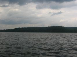 lake and storm by CotyStock