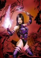 Psylocke - Color by darylosaurus