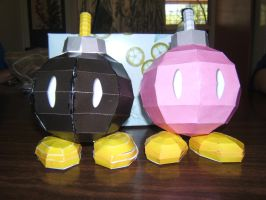 Bob-omb and Bombette by random-lil-azn