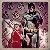 Young Damian Wayne and Father by thedorkbatward