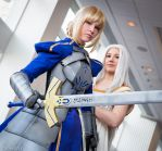 Saber and Irisviel: We Won't Run by FoxGlovesCosplay