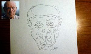 Picasso in one line by meathive