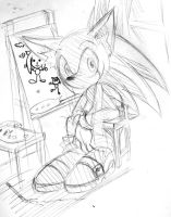 Sonic's Drawing by AkiruNyang