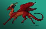 Red Winged dragon by LauraRamirez
