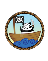 Pirate Panda by Panduhmonium