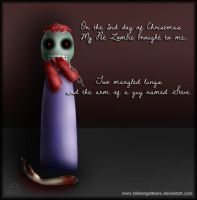 My Pet Zombie Christmas Day 2 by fallnangeltears