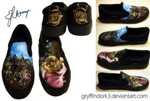 Harry Potter Shoes - The Prisoner of Azkaban by Gryffindork3