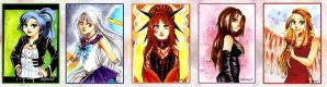 ACEO set for Hecateslight 1 by SimonneX