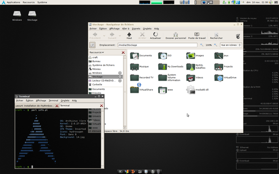 My ArchLinux Desktop by mx-craft