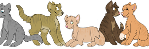 warrior kittys by huskynugget
