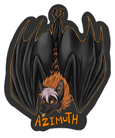 Hanging badge: Azimuth by neon-possum