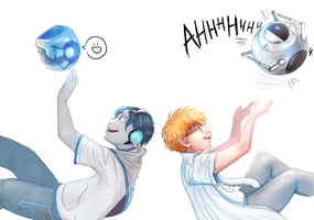 Wheatley and Sparks by Kittykatpaws