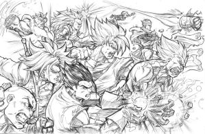 DBZ WARRIORS by CdubbArt