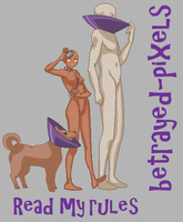 FPD: Base 20 Dog by betrayed-pixels