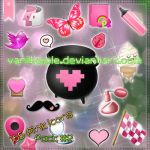 Cute Pink icons pack 2 by VanillApple