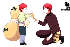 Kid Gaara and Gaara THE LAST by fvckfdaname