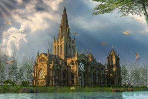 Cathedral back view by crystalrain2702