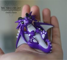 Purple and White Dragon 2 by MiniMythicalMonsters