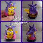 Mega gengar custom pikachu amiibo by SingingNight