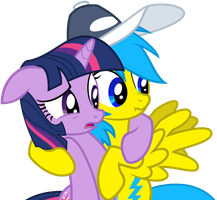 Twilight and Blue Lightning Vector - Request by LonicHedgehog