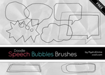Doodle Speech Bubbles Brushes by MysticEmma