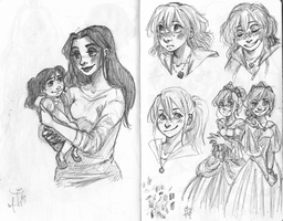 Requests and sketches by princessofDisney27