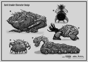 Fusion Project: Dark Crawler Creature Concept by dreamcore-creation