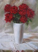 Red roses by Moolver-sin