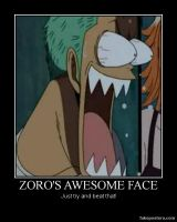 Zoro's Awesome Face by ProfessorNature