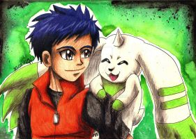 Henry + Terriermon #2 by Koza-Kun