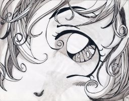 Anime Eye in Pen and Ink by ArtisteFish