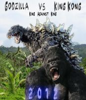 Godzilla vs King Kong by SteveRGR
