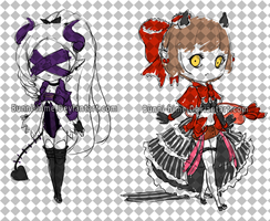 Demon Adopts Sketches [ 1/2 Open] by Bunni-Hime