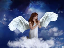 Angel in clouds by PattiPix