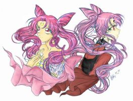 Small lady and Wicked Lady by American-poet