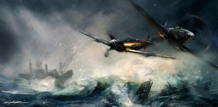world war 2 spitfire vs messerschmitt by VitoSs