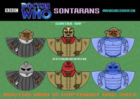 Doctor Who - Sontarans by mikedaws