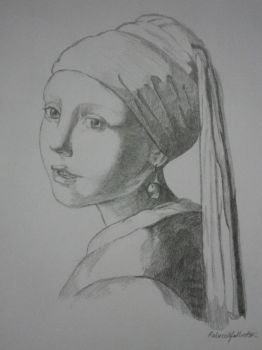 The Girl with the Pearl Earring (full view) by FoolofaTook97
