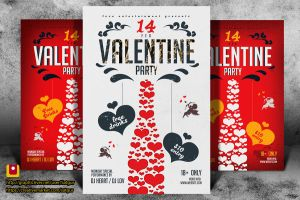 Valentine's Day Party Flyer by satgur